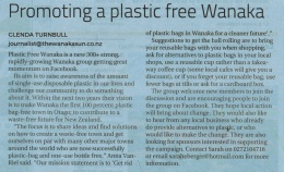 Plast free Wanaka- The Sun, 3rd mar 1